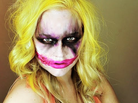 Makeup Tutorial Halloween Female Joker The Joker S