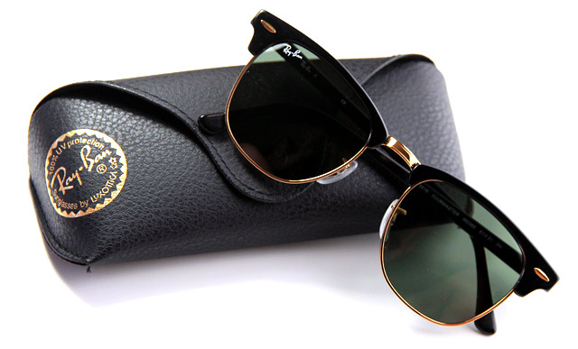 ray ban clubmaster gold and black