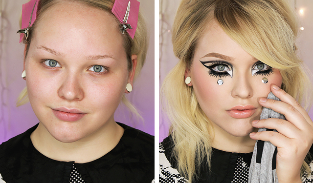Makeup Tutorial Peggy Moffitt Inspired Look Collab With Desi