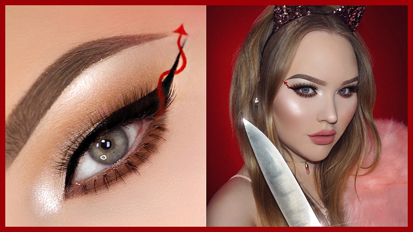 SCREAM QUEENS Red Devil Eyeliner – HALLOWEEN Makeup Tutorial ...
