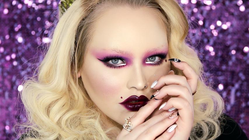 Purple Flapper Girl Makeup Tutorial
